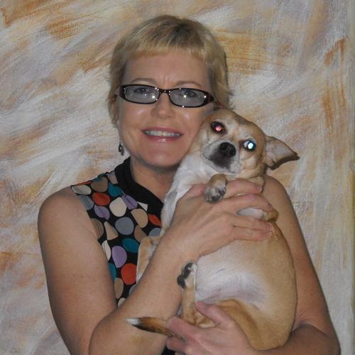 Elizabeth Montague with her dog Luchea in Culver City 2012