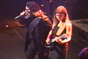 Elizabeth Montague and Jeffrey Lee Pierce in 1995