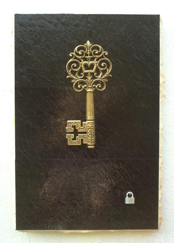Linoleum with Key and Lock by Elizabeth Montague
