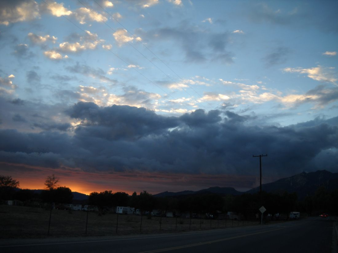 Rain Clouds at Sunset in Ojai