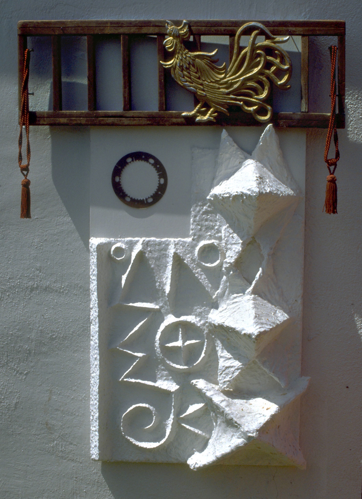 White Stucco with Rooster by Elizabeth Montague